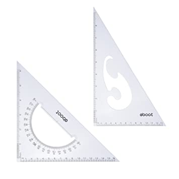 Juego de Escuadras de Triángulo Grandes, 30/ 60 y 45/ 90 Grados,