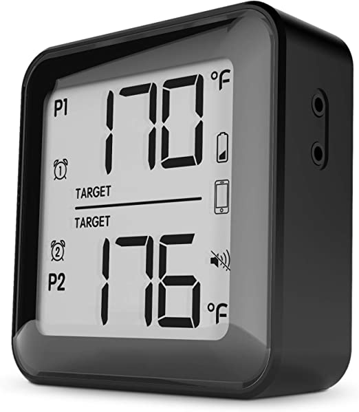 Cappec Kitchen Thermometer with Sound Alert for Oven BBQ Smoker Grill
