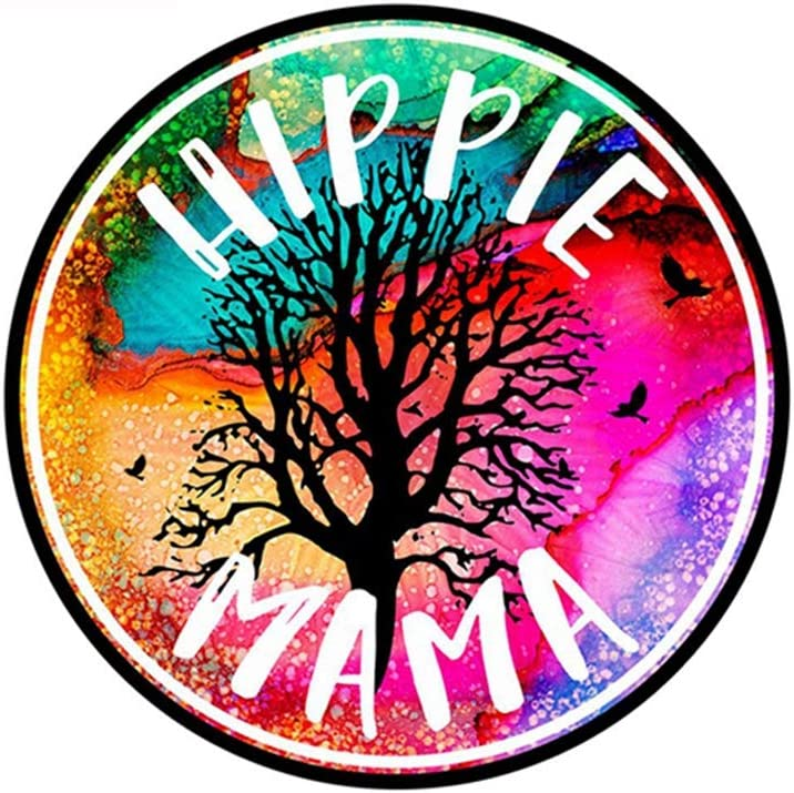 12cm x 12cm Hippie Mama Car Decal Hippie Regalos para mujeres Hippie Bumper Window Stickers Car Accessories etiqueta de la pared etiqueta de la pared decoración