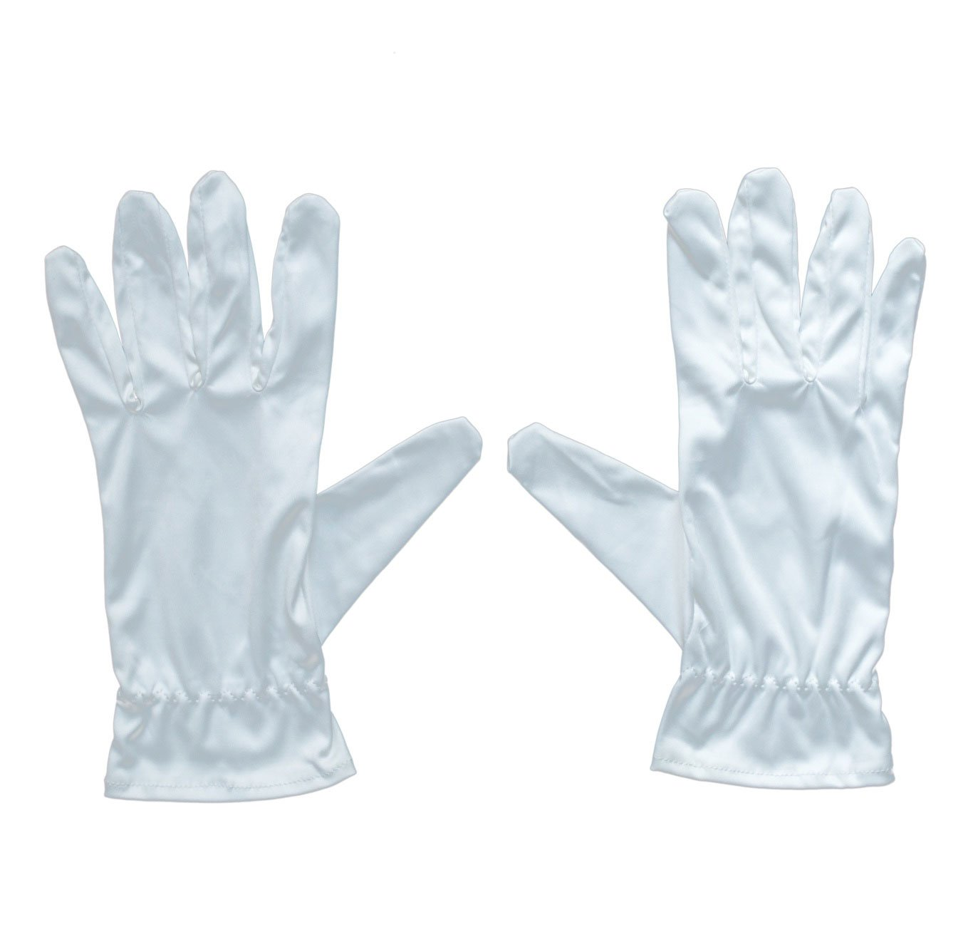 Microfiber Cleaning Cloth. All Purpose Cleaning Gloves in White. (1 Pair) by Verona Love
