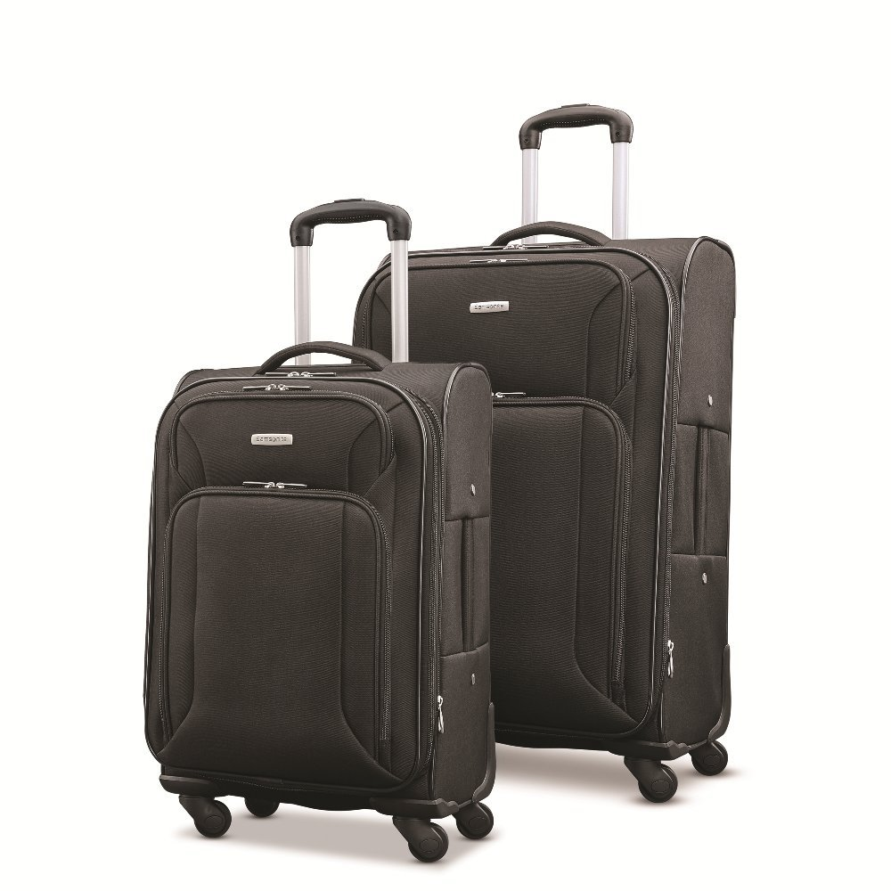 Samsonite Victory 2 Piece Nested Softside Set (21''/25''), Black, Only at Amazon