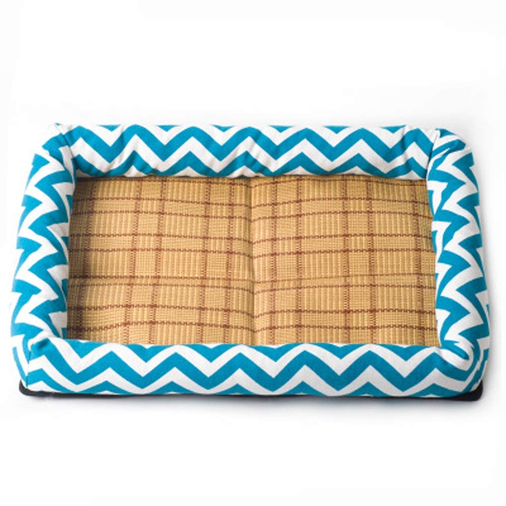 Sky bluee S Sky bluee S QYQ Pet Nest Kennel Pet Mat Four Seasons Universal Breathable Resistant to Bite Comfortable and Warm Soft Washable Three-dimensional PP Cotton Padding for Pet Rest and Sleeping