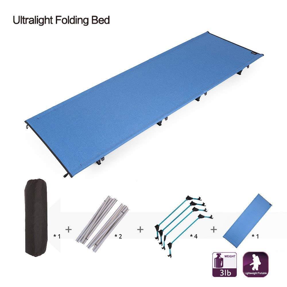 Klappbett, Outdoor Ultraleichte Aluminiumlegierung, Einzel-Feldbett, Büro Lunch-Camp, Tragbare Klappbett, 190  70  17 cm