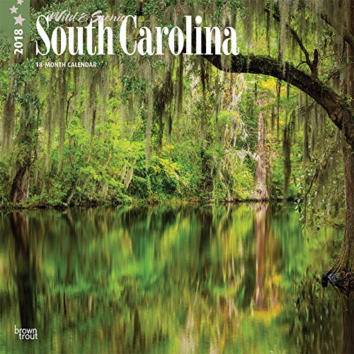 South Carolina, Wild & Scenic 2018 12 x 12 Inch Monthly Square Wall Calendar, USA United States of America Southeast State Nature (English, French and Spanish Edition) (Photos Calendar Scenic Featuring)