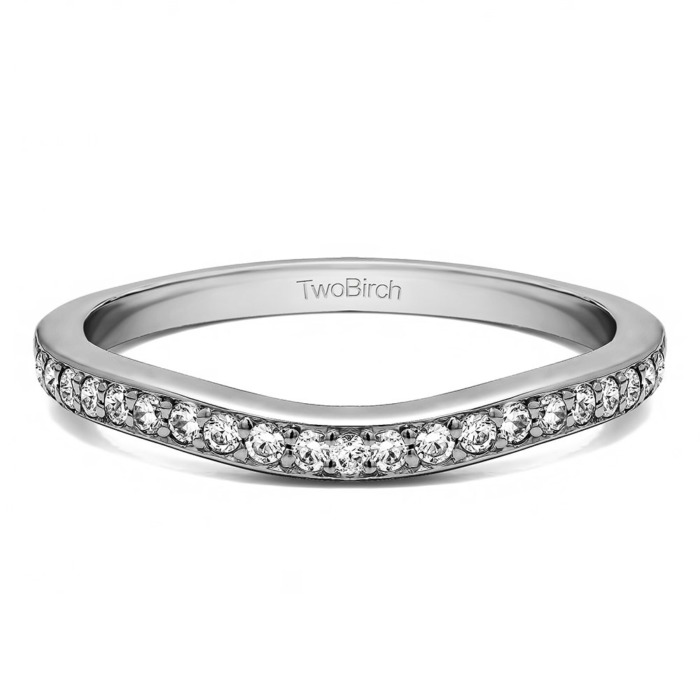 Diamonds (G-H,I2-I3) Dainty Ring In Sterling Silver(0.11Ct) Size 3 To 15 in 1/4 Size Interval