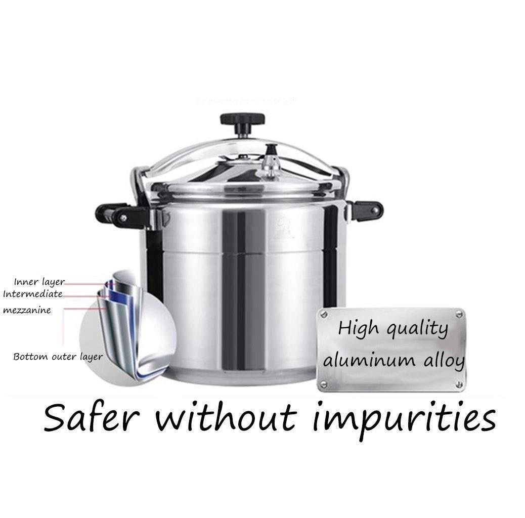 Autocuiseur Autocuiseur en aluminium antid/éflagrant en aluminium commercial Color : Silver, Size : 9L autocuiseur /à gaz domestique autocuiseur /épais de grande capacit/é