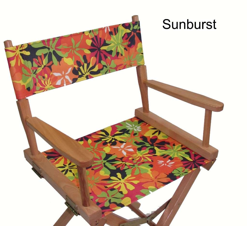 Replacement Cover Canvas for Director's Chair (Flat Stick) (Sunburst) by Everywhere Chair