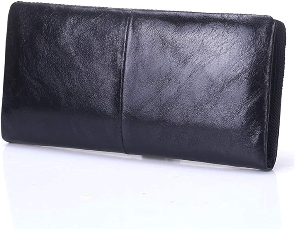 Male Wallets Two Folded Leather Soft Cowhide Leisure Purse For Men And Women Handbag