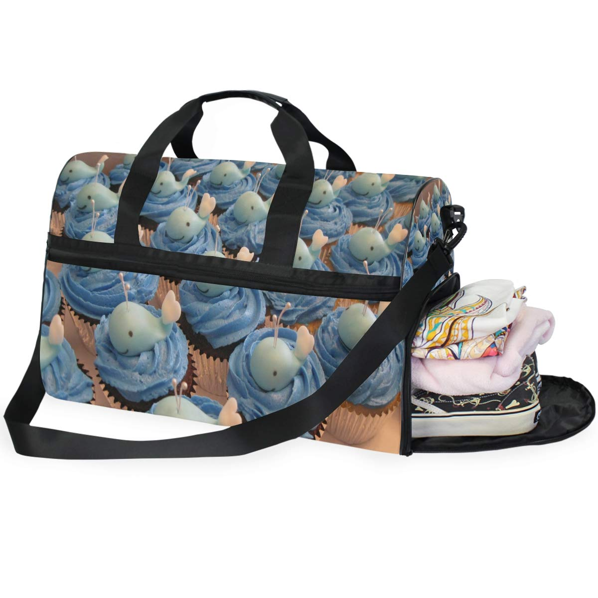 Travel Tote Luggage Weekender Duffle Bag We Wish You A Merry Christmas Large Canvas shoulder bag with Shoe Compartment