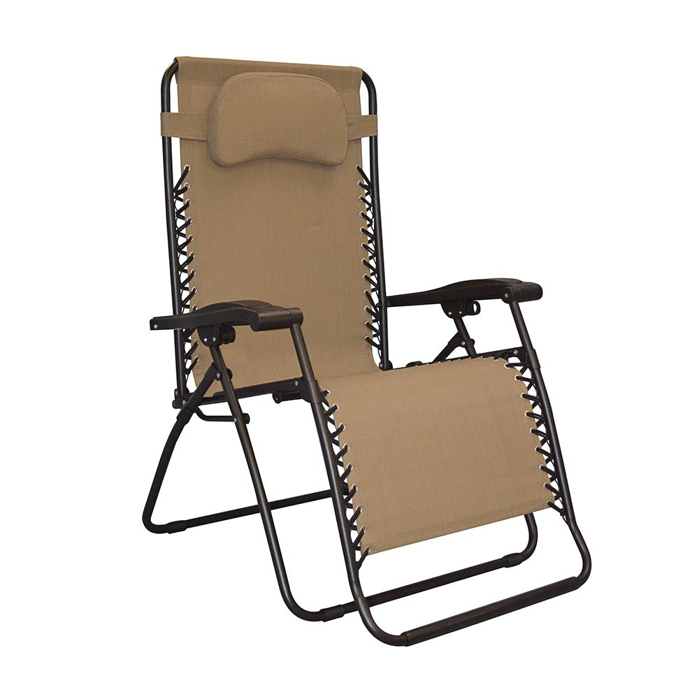 Caravan Sports Infinity Oversized Zero Gravity Chair, Beige