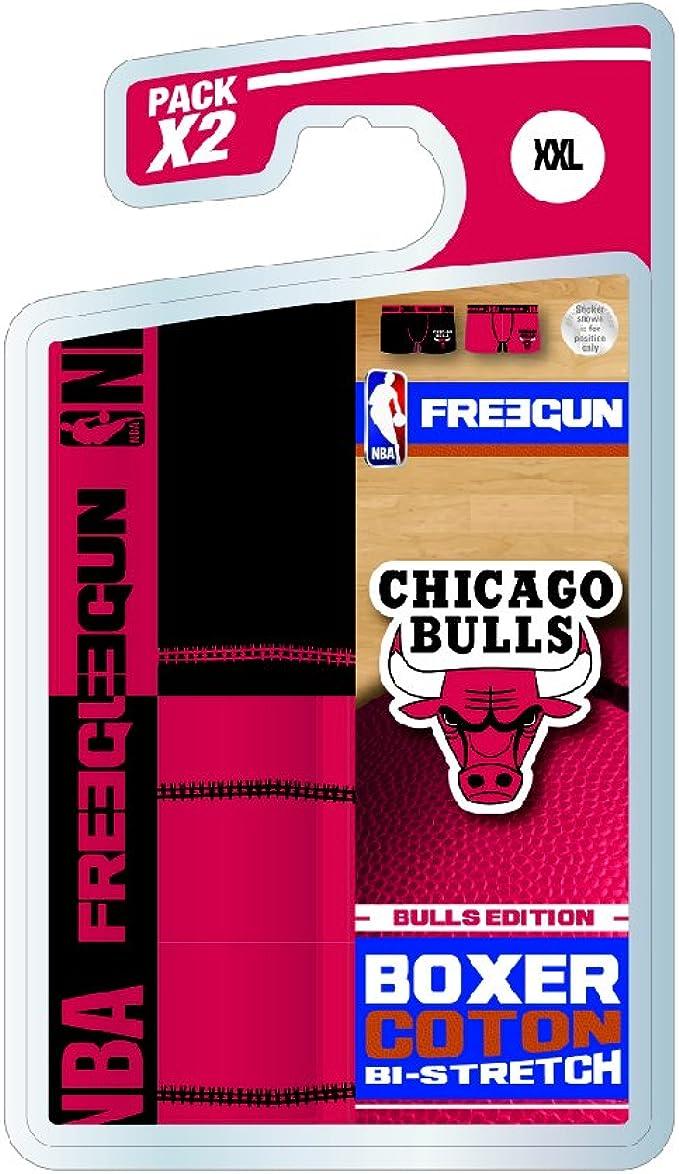 FREEGUN - Bóxers - para Hombre NBA League XX-Large: Amazon.es ...