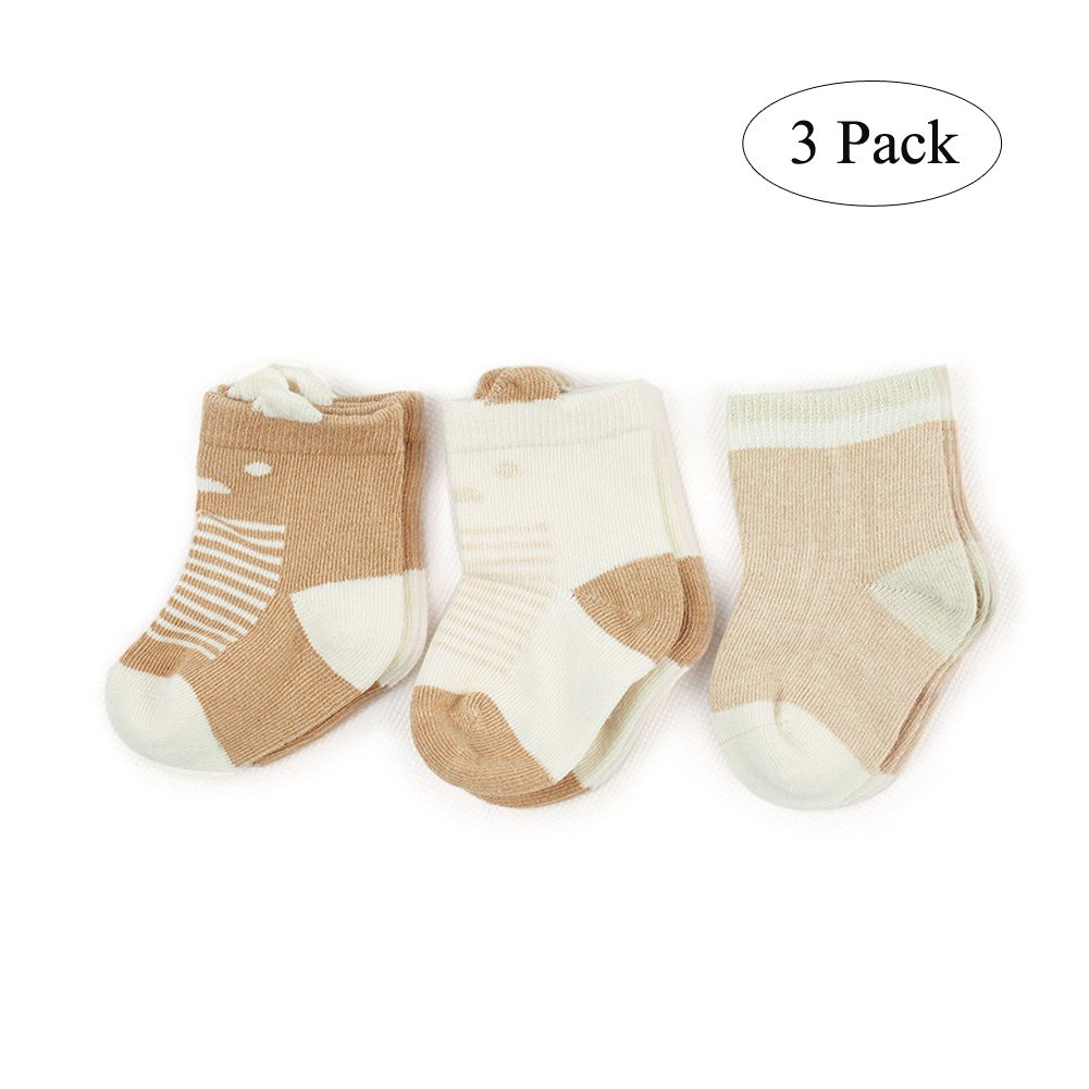 COBROO Baby Socks Newborn Cute Bear Unisex for Baby Girl and Boys 6-12 Months 3 Pack Le En CA-PJ840013