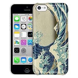Apple iPhone 5C Case, Slim Fit Snap On Cover by Trek Katsushika Hokusai Great Wave off Kanagawa Trans Case