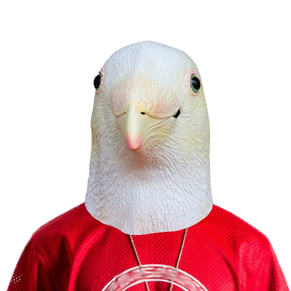Lubber Halloween Party Costume Pigeon Bird Latex Animal Head Mask