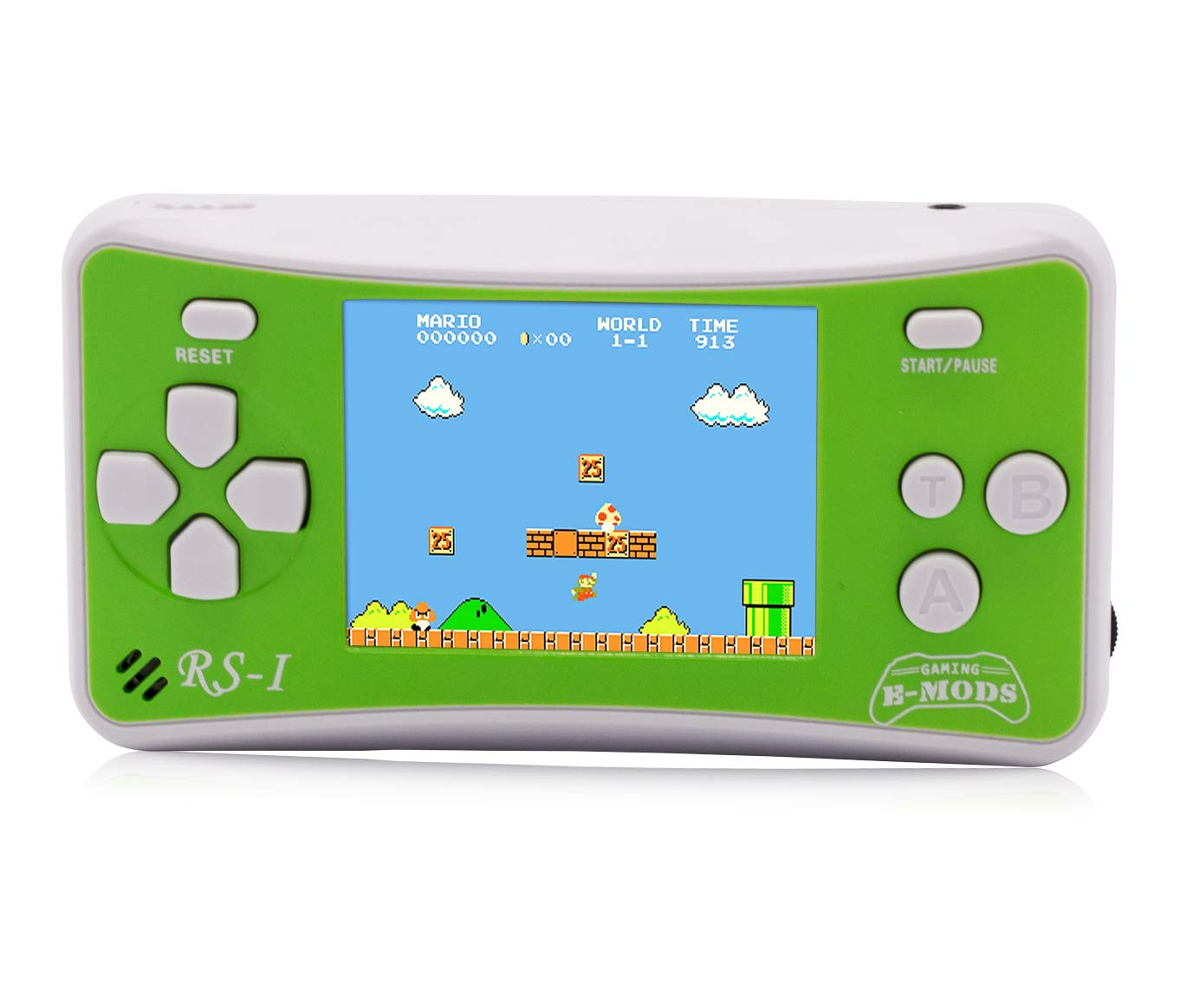 Hisonders 2.5'' Color Display Retro Portable Handheld Video Game Console Built in 162 Games (Green)