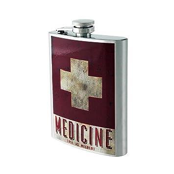 Petaca Licorera 8 Onzas Acero Inoxidable Medicine