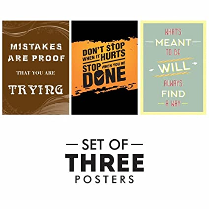 Throne Of Gl Quotes | Printelligent Motivational Posters Set Of 3 Inspirational Wall