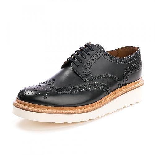 a3ee07eca72 Grenson Archie Brogue Black Mens Shoe  Amazon.co.uk  Shoes   Bags