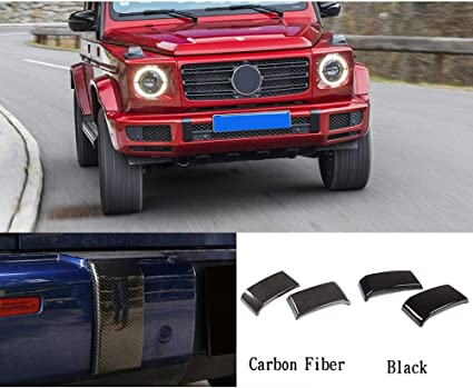 Carbon Fiber ABS Front Bumper Trim Fit For Mercedes Benz G Class W463 2019 2020
