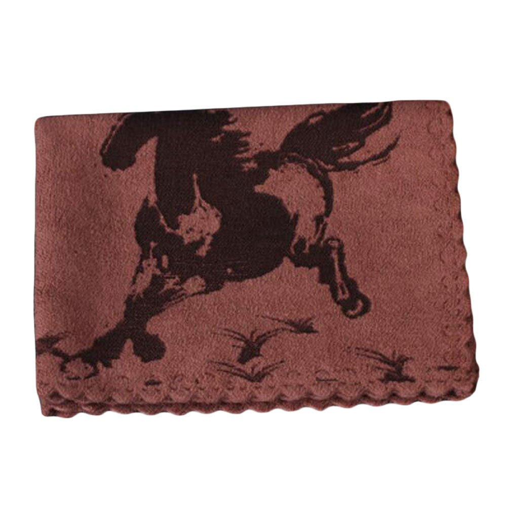 Water Absorption Towels Cotton Thicken Horse Tea Towels Tea Accessory-Coffee George Jimmy