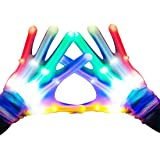 TOPTOY Flashing LED Gloves Cool Fun Toys - with Gift Packaging