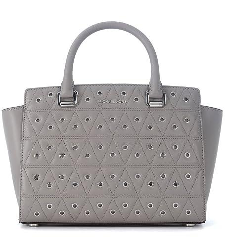amazon com michael kors women s selma medium top zip satchel pearl rh amazon com