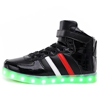 e8bb56fae73b Jedi fight back LED Light Up Shoes 11 Colors High Top Flashing Sneakers for  Mens