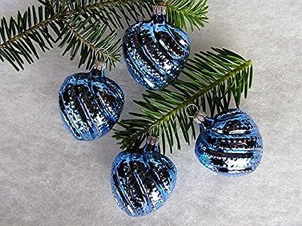 Decorazioni Albero Di Natale Blu : Decorazioni albero di natale pezzi cialde cuore blu cobalto