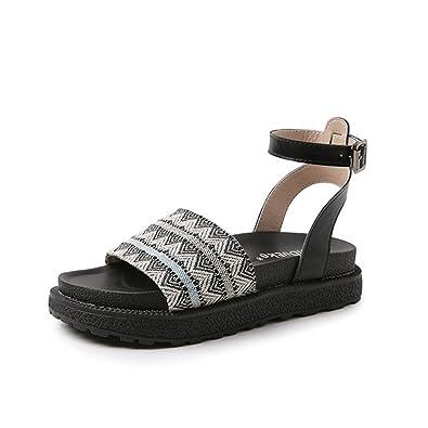 26c0747d4c564 Amazon.com | Gusha Casual Sandals Summer Women's Flat Shoes Buckle ...