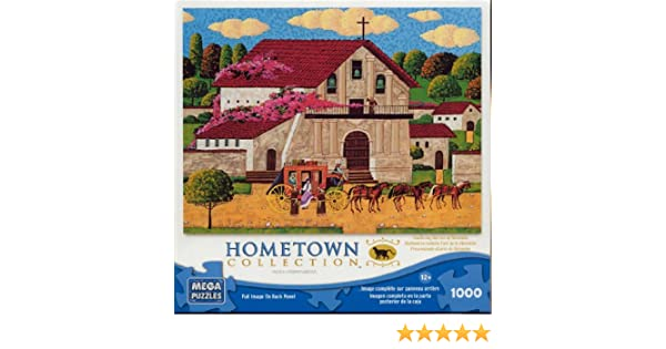 Amazon.com: Hometown Collection: Mission Delores - 1000 Piece Jigsaw Puzzle - by Heronim by Mega Puzzles: Toys & Games