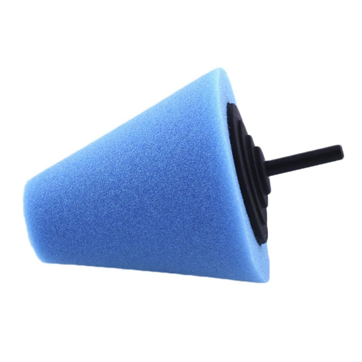 Cuscinetto di schiuma di lucidatura a cono automobilistico, tampone di lucidatura a forma di cono di spugna di metallo Cuscinetto di schiuma di lucidatura di metallo per le ruote di automobile automobilistica Cura di tipo medio blu Wafalano
