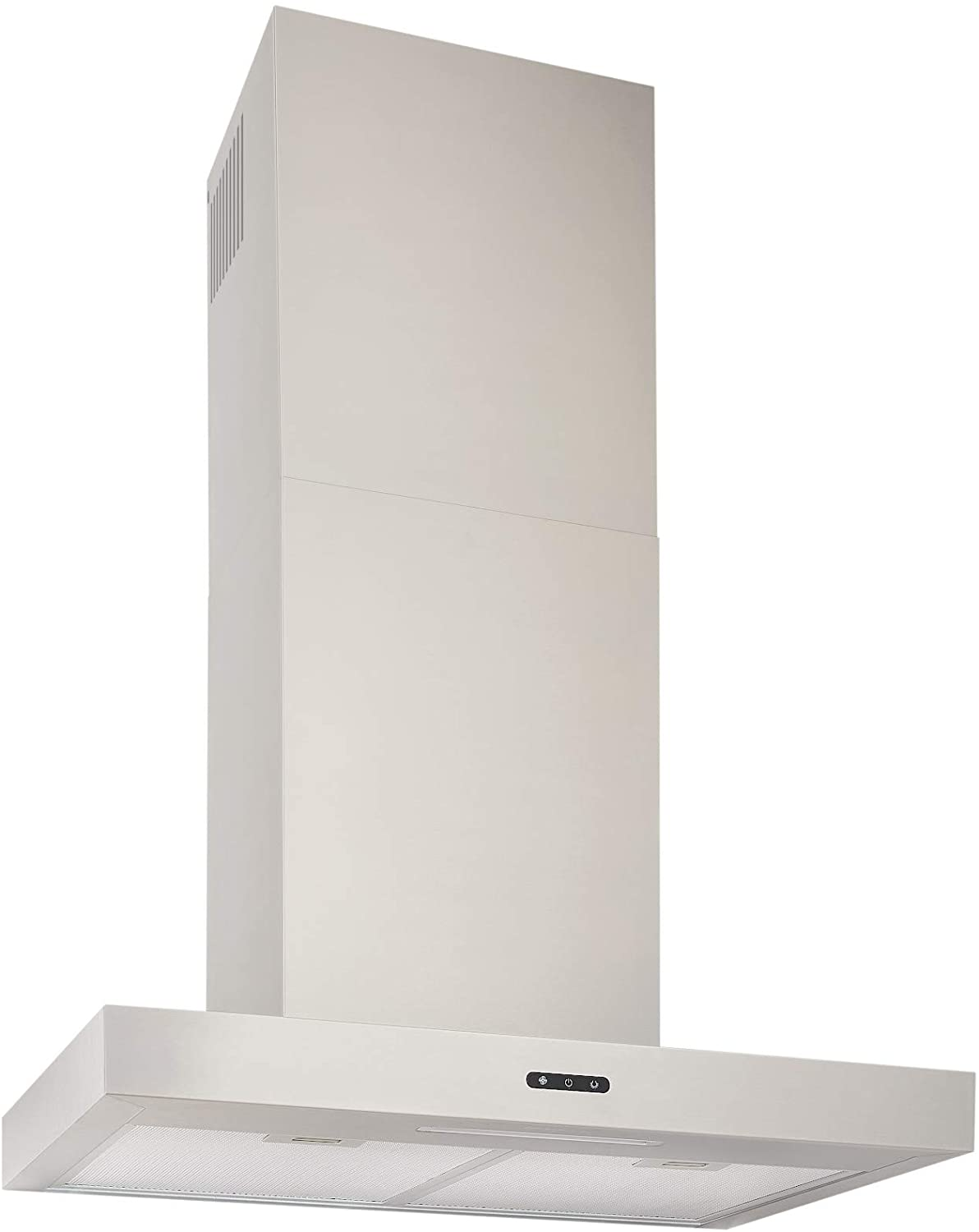 Broan-NuTone EW4324SS Wall-Mount Stainless Steel Chimney Insert with LED Light, 400 CFM, 24-Inch Range Hood