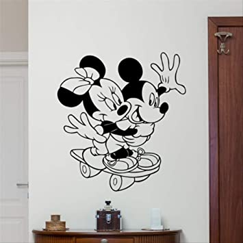 3D Pegatinas De Pared-Mickey Mouse Minnie Mouse De Dibujos ...