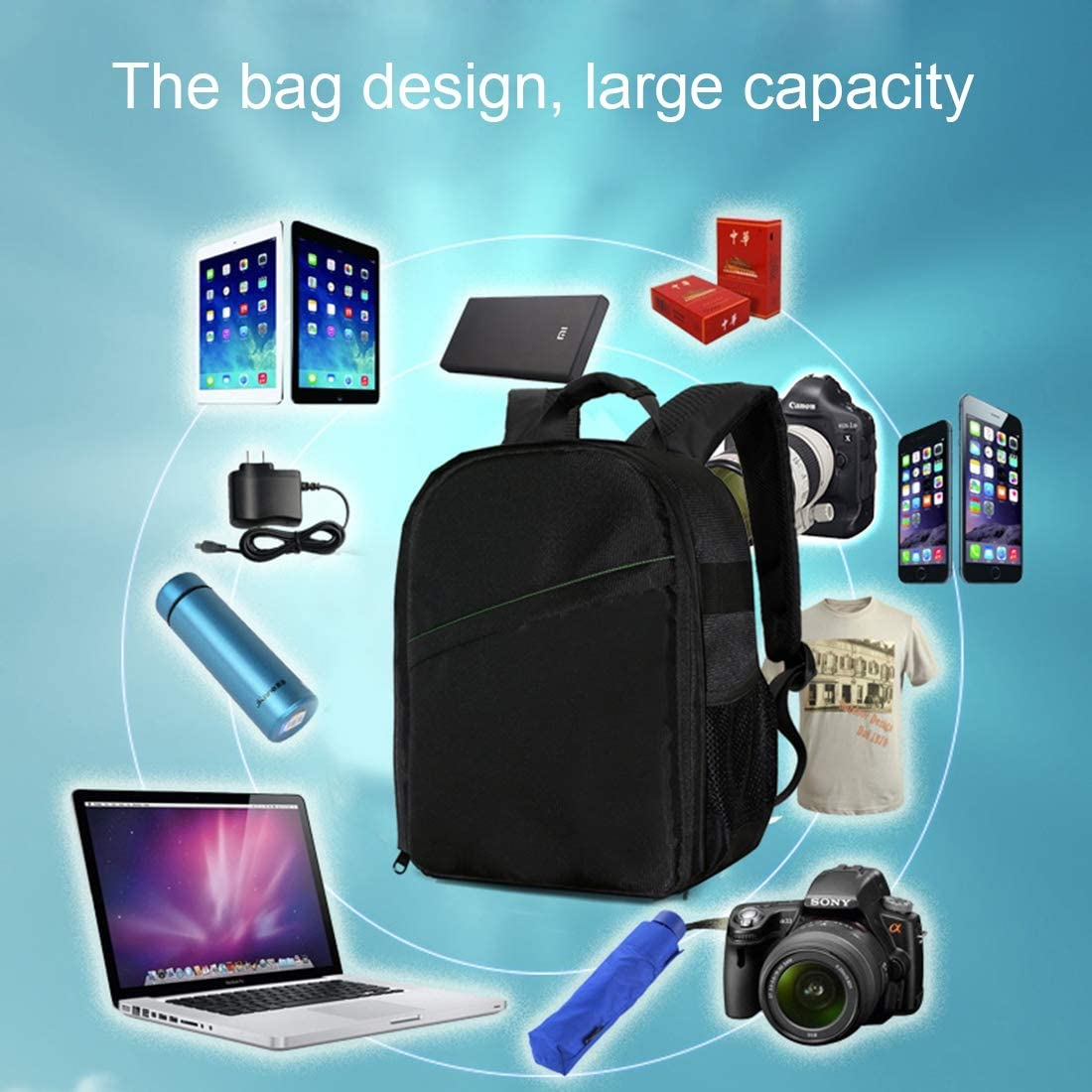 DL-B027 Portable Waterproof Scratch-proof Outdoor Sports Backpack SLR Camera Bag Phone Bag for GoPro,for SJCAM,for Nikon,for Canon,for Xiaomi Xiaoyi YI,for iPad,for Apple,for Samsung,for Huawei Size