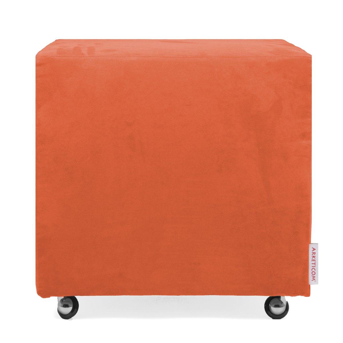 Arketicom Beanbag Cube removable Microfiber Cover, Sizes, black, 35