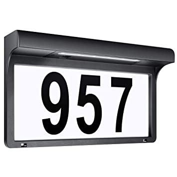 4e26a7062ad LeiDrail Solar House Number Signs Address Sign Numbers Plaques Custom Name  Plaque Outdoor Mailbox Home Illuminated