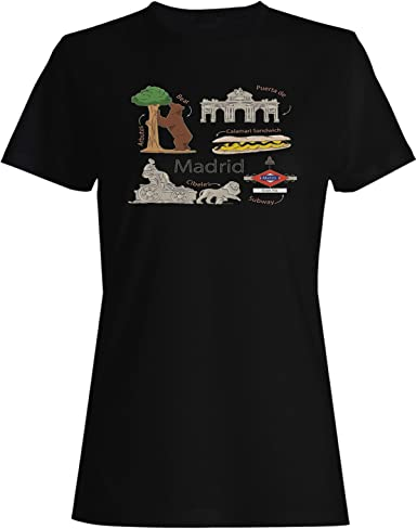 Amo Madrid Viajar el Mundo España Camiseta de Las Mujeres d587f ...