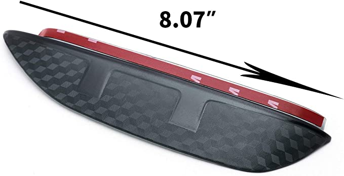 Carbon Fiber Texture Rearview Mirror Snow Visor Guard Anti-rain Eyebrow Xotic Tech 2pcs Rear View Side Mirror Rain Visor Shade Guard for Honda Civic 2016-2019