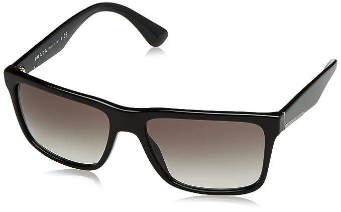 43c7f8db8e6 PRADA Men s 19SS 0Pr19Ss 1Ab0A7 59 Sunglasses Black Gradient  Amazon ...