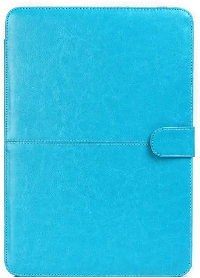 Tablet PC Case Stand Leather Case for 2016 New MacBook Pro 15.4 inch A1707 Laptop Crazy Horse Texture Horizontal Flip Leather Case Smart Cover (Color : Blue)
