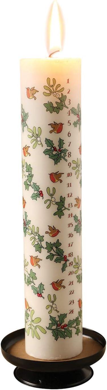 Alison Gardiner Advent Candle Winter Wildlife 4.5 cm x 25.5 cm Pillar Candle