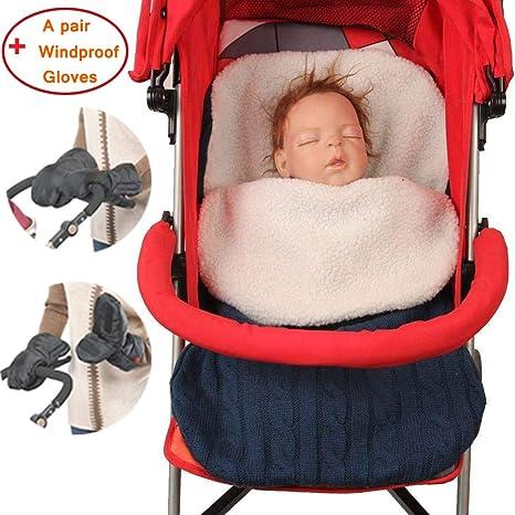 Manta para bebé recién nacido, manta de punto de lana para bebé ...