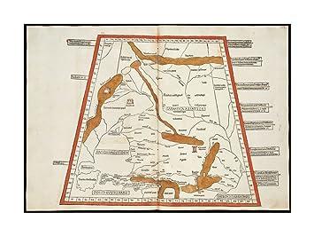 Map Of Georgia Southern.Amazon Com 1482 Map Georgia Ukraine Secunda Asie Tabula Continet