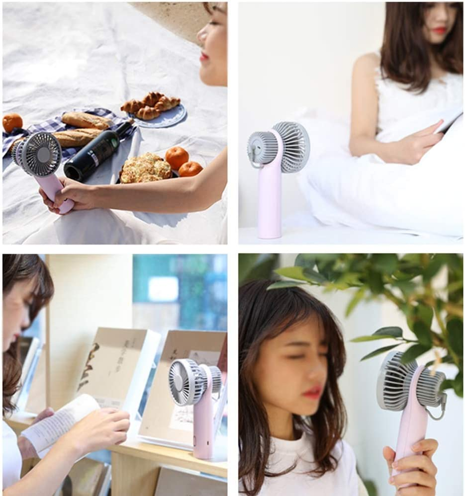 Large Wind Turbine Speed Adjustment with Three Gears LMMNFS USB Mini Fan Silent Rechargeable Handheld Fan Household Fan air Conditioning Color : Gray Portable Dormitory with Hand Fan