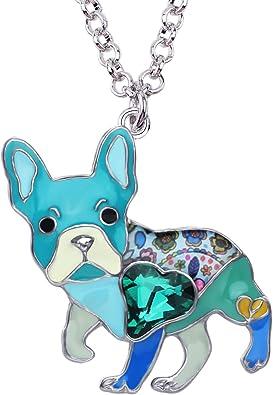 Dog Lover Jewelry French Bulldog Necklace Bulldog Pendant Charm Necklace