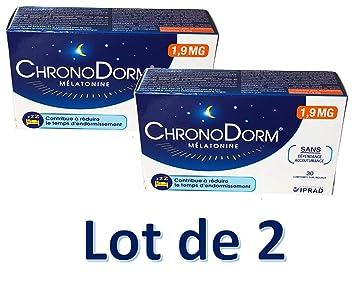 ChronoDorm Melatonina 1,9 mg 30 comprimidos sublinguales lote de 2 ...