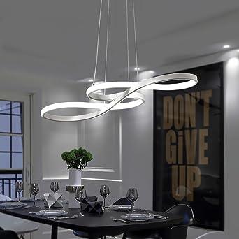 Lieblich ZMH LED Pendelleuchte Esstisch Hängeleuchte Deckenleuchte 38W Dimmbar Mit  Den Fernbedienung Höhenverstellbar Aus Acryl Und Aluminium