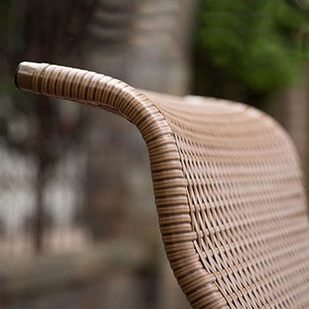 MW Summer Lounge Chaise, Salon De Jardin Weave Main Chaise, Chaise Sunbath Réglable Jardinet, Extérieur Léger Pliant Chaise, Chaise De Plage Recliner,A B