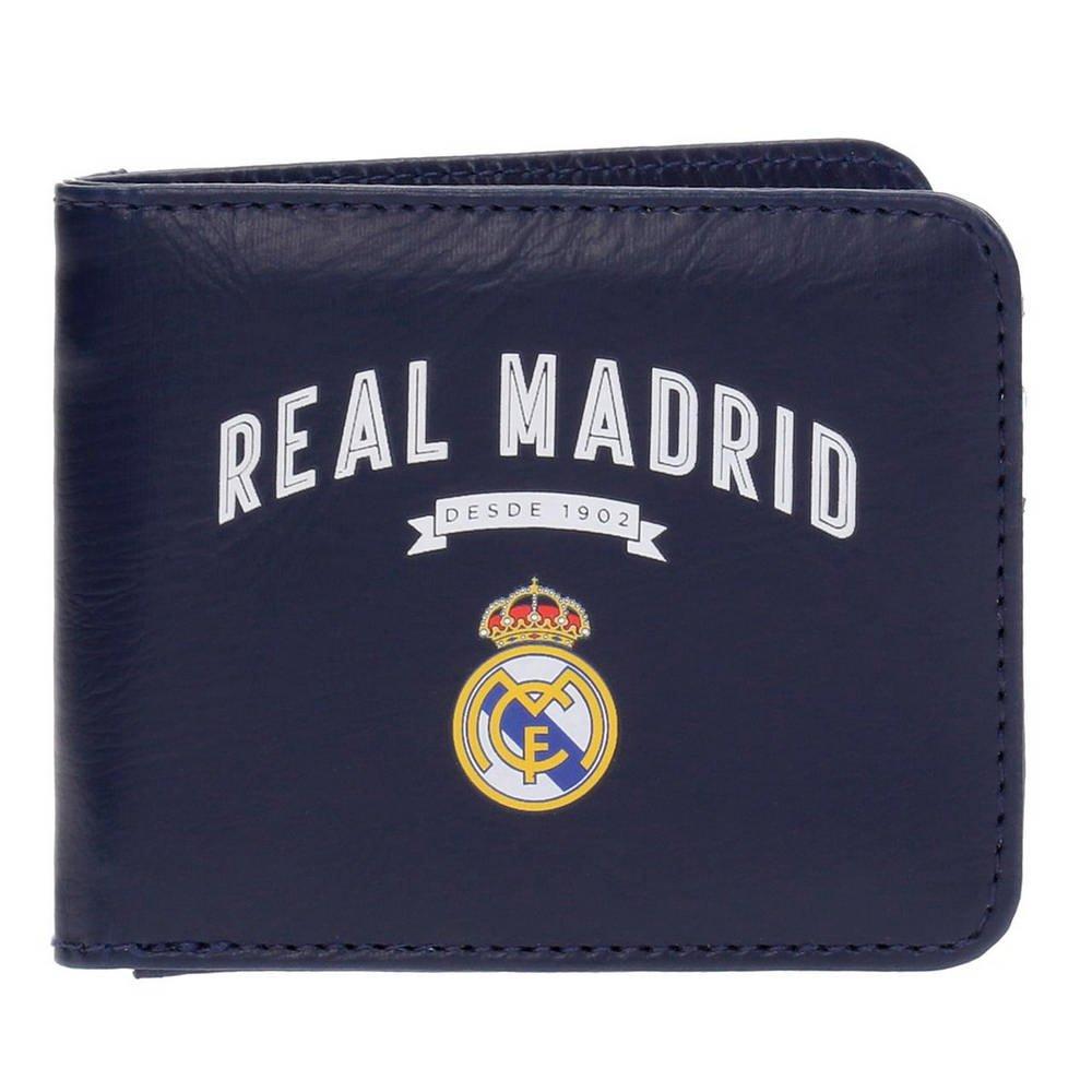 Real Madrid Vintage RM Porte-Carte de crédit, 10 cm, 0.09 liters, Bleu (Azul) 4978251