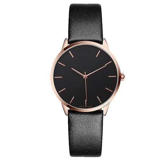 Reloj para mujer Reloj de cuarzo con correa de tendencia de moda Reloj fino Reloj de mujer con esfera grande: Amazon.es: Relojes